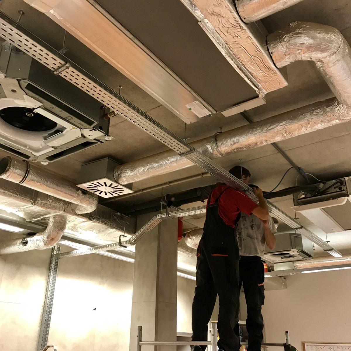 Realizacja – Wykonanie instalacji klimatyzacji oraz modernizacja kotłowni w budynku biurowym ETOS.