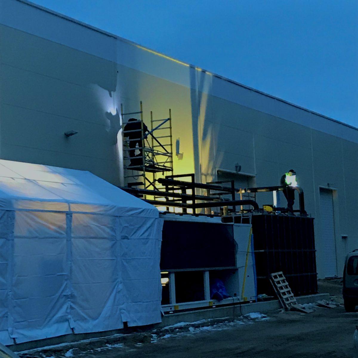 Realizacja – Eurocast Strzebielino – Budowa instalacji wody lodowej.