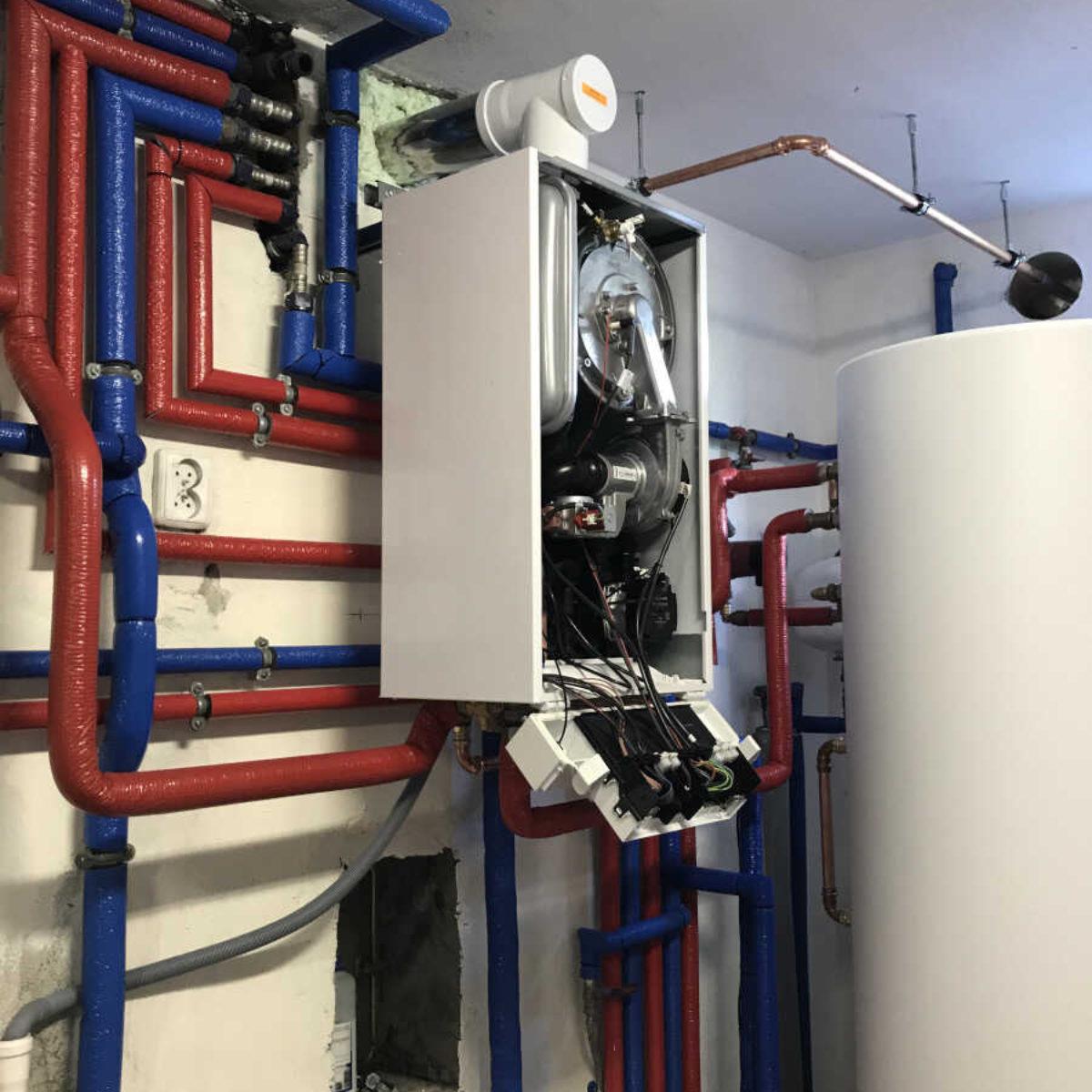 Modernizacja kotłowni, montaż kotła Vitodens 100-W