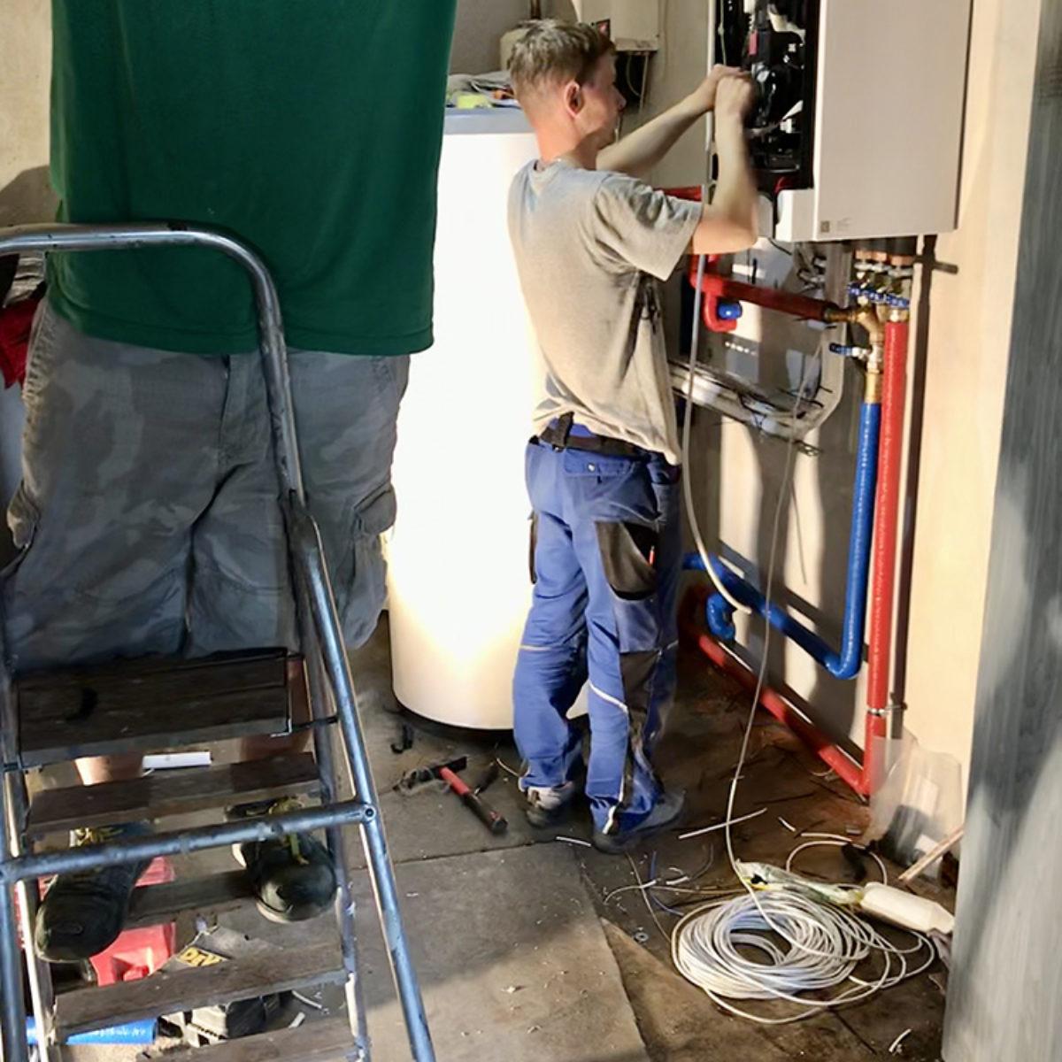 Modernizacja i instalacja pompy ciepła Vitocal 100-S